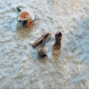 Charlotte Russe Lamé Platform Heels